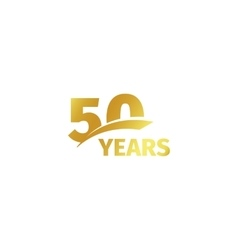 Isolated abstract golden 50th anniversary logo on vector
