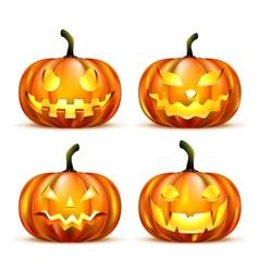 Jack lantern pumpkins vector