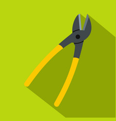 Metal shears icon flat style vector