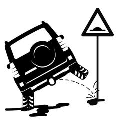 Off road car pissing vector