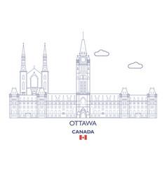 Ottawa city skyline vector
