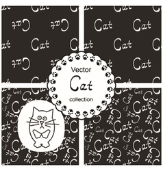 Patterns with cats vector