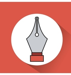 pen point metal icon vector image