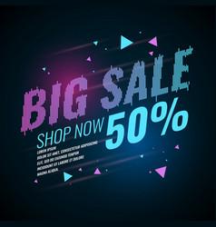 poster big sale retro 90s vector image vector image