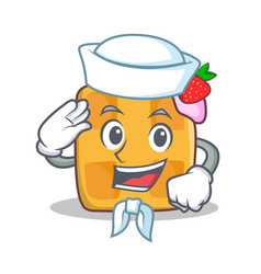 Sailor waffle character cartoon design vector