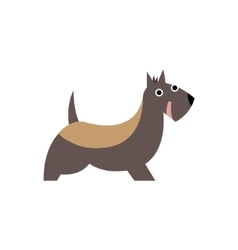 Scottish Terrier Dog Breed Primitive Cartoon vector image vector image