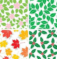 season patterns vector image vector image