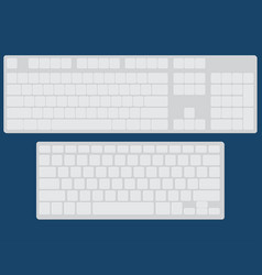 Set of two flat keyboards vector