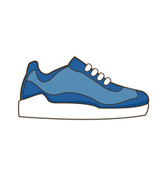 Sneaker sport footwear training image vector