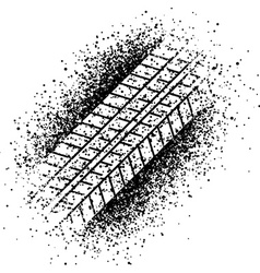 spray trace of the tyre vector image vector image