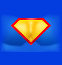 superhero logo template background in the form of vector image vector image