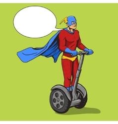 Superhero ride on electric transport vector