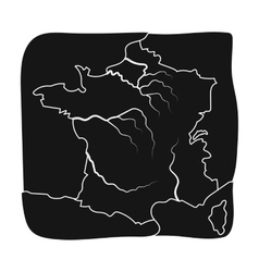 Territory of France icon in black style isolated vector image vector image