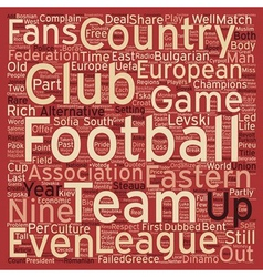 The eastern league text background wordcloud vector