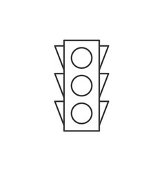 traffic light outline icon vector image vector image
