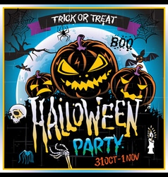 Happy Halloween Poster vector image