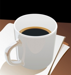 Cup black coffee vector