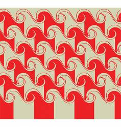 Asian waves pattern vector