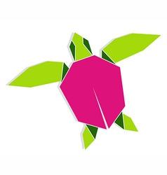 Multicolored origami turtle vector image