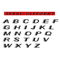 Speed alphabet vector