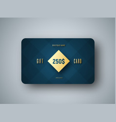 Emplate of a premium gift card with a gold vector