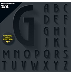 Modern flat alphabet with long ambient shadow vector