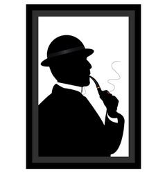 Man smoking a pipe vector