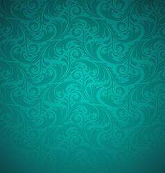 Emerald floral seamless pattern vector
