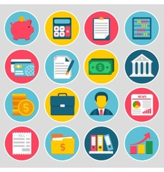 Accounting icons set vector image