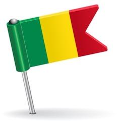 Mali pin icon flag vector image