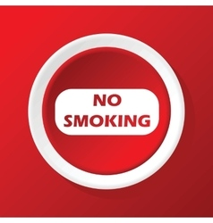 No smoking icon on red vector
