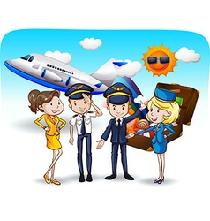 Cabin crew vector