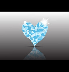 Polygon ice diamond heart vector