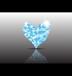 Polygon Ice Diamond Heart vector image