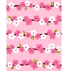Cherry blossom seamless pattern vector