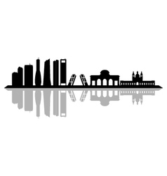 Madrid skyline vector