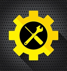 Object tool icon wrench with screwdriver on a vector