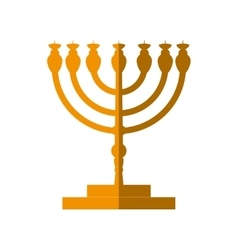 Candle icon israel culture design graphic vector