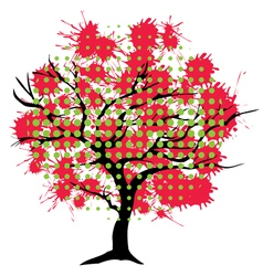 Abstract tree ink vector