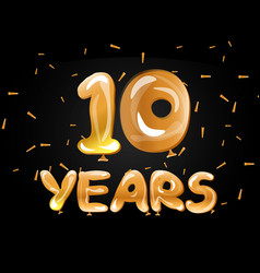 anniversary celebrations 10 years greeting card vector image vector image