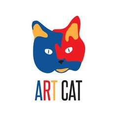 Art cat vector