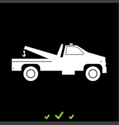 breakdown truck it is white icon vector image vector image