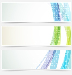 Bright abstract cards headers footers set vector