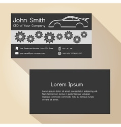 Car store and mechanic garage simple business card vector