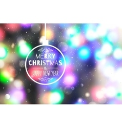 Christmas blurred background vector
