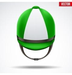 Classic jockey helmet vector