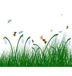 Color meadow vector image vector image