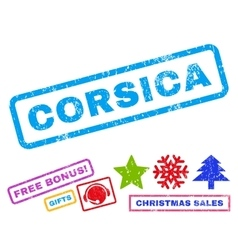 Corsica rubber stamp vector