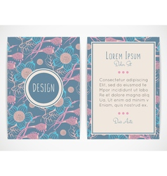 Cover design with floral pattern vector image