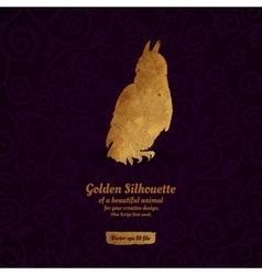 Creative design with golden silhouete vector